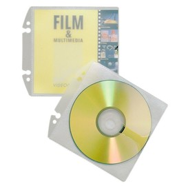 CD/DVD Cover Easy mit Schutzvlies für 1 CD/DVD mit Booklet oder 2 CD/DVDs mit Lochung transparent Durable 5223-19 (BTL=10 STÜCK) Produktbild