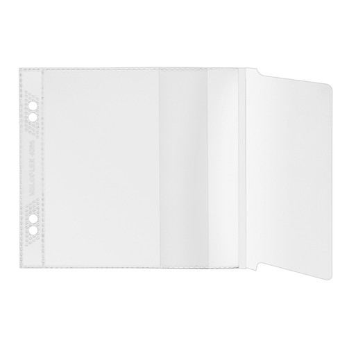 CD Hülle mit Laschenverschluss ohne Schutzvlies zum Abheften transparent PP Veloflex 4366000 (PACK=10 STÜCK) Produktbild Front View L