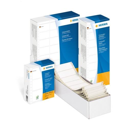 Endlosetiketten 68,58x35,7mm weiß 1-bahnig Herma 8207 (PACK=4000 STÜCK) Produktbild Additional View 1 L