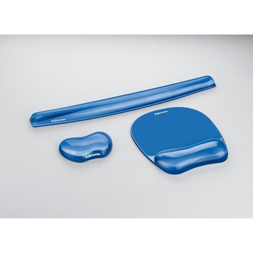Handgelenkauflage Gel Crystal blau Fellowes 9113709 Produktbild Additional View 2 L