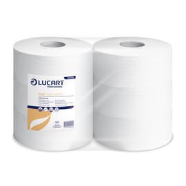 Toilettenpapier Jumbo Rollen 1-lagig / 8,9cm 640m / Ø26cm / Recycling / weiß / Lucart Easy 640 White (PACK=6 ROLLEN) Produktbild
