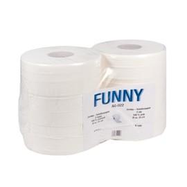 Toilettenpapier Jumbo Rollen 2-lagig / 9,6cm 380m / Ø28cm / Zellstoff / hochweiß (PACK=6 ROLLEN) Produktbild