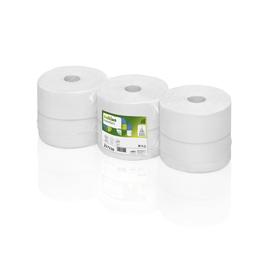 Toilettenpapier Jumbo Rollen 2-lagig / 9,2cm 380m / Ø26cm / Recycling / hochweiß / Satino Comfort (PACK=6 ROLLEN) Produktbild