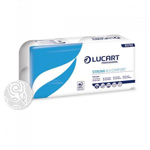 Toilettenpapier Zellstoff 250 Blatt 3-lagig hochweiß (PACK=72 ROLLEN) Produktbild