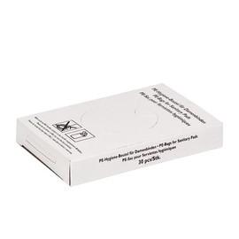 Hygienebeutel Kunststoff  80+70x250mm / weiß (KTN=750 STÜCK) Produktbild