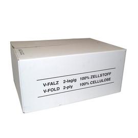 Handtuch Zickzack-V-Falz 2-lagig / 24x21cm / Zellstoff / hochweiß / 18g (KTN=3990 STÜCK) Produktbild