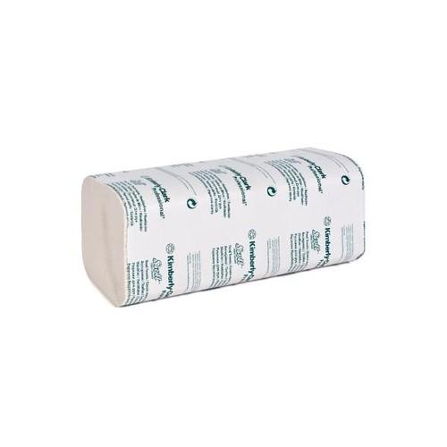 Handtuch Interfold Kurz-Z-Falz 2-lagig / 23x25cm / Recycling / weiß Kimberly Clark 6604 (PACK=3800 STÜCK) Produktbild Front View L