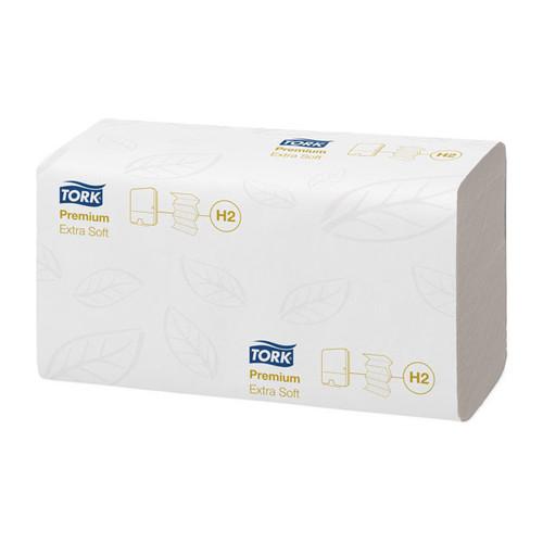 Handtuch Interfold Lang-W-Falz 2-lagig / 21x34cm / Premium H2 / hochweiß / extra weich / Tork 100297 (KTN=2100 STÜCK) Produktbild Additional View 1 L