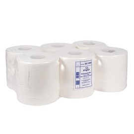 Universalrollen Zellstoff 1-lagig / hochweiß / 20cm 320m / Ø20cm  / Großrolle (PACK=6 ROLLEN) Produktbild