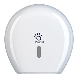 Toilettenpapierspender für Maxi Jumborollen / Kunststoff / weiß / 345x345x148mm  Produktbild