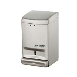 Desinfektionmittel- & Seifenspender  Serie Alpha mit Druckknopf 800ml / Edelstahl gebürstet / Air-Wolf Produktbild