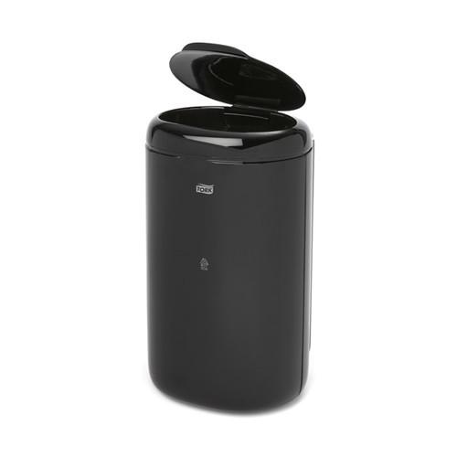 Damenhygiene-/Abfallbehälter 5 Liter / schwarz / Kunststoff / 380x194x160mm / Tork 564008 Produktbild Additional View 1 L