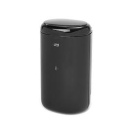 Damenhygiene-/Abfallbehälter 5 Liter / schwarz / Kunststoff / 380x194x160mm / Tork 564008 Produktbild