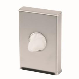 Hygienebeutelspender Serie Omikron II für Kunststoffbeutel / Edelstahl gebürstet / 140x93x24mm / Air-Wolf Produktbild