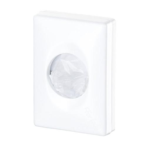 Hygienebeutelspender für  Kunststoffbeutel /weiß / Kunststoff / 100x139x275mm Produktbild Front View L
