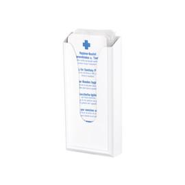 Hygienebeutelspender Serie Beta für Papierbeutel / weiß / Kunststoff / 290x135x55mm / Air-Wolf Produktbild