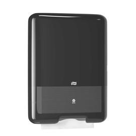 Handtuchspender H3 groß schwarz / Kunststoff / 333x136x439mm / Tork 553008 Produktbild