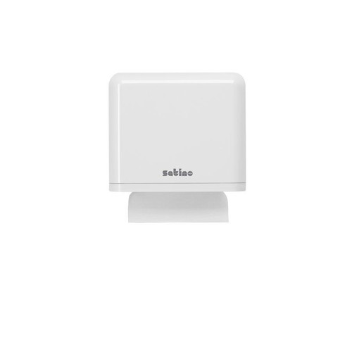 Handtuchspender klein weiß / Kunststoff / 327x283x151mm / Satino Produktbild Front View L