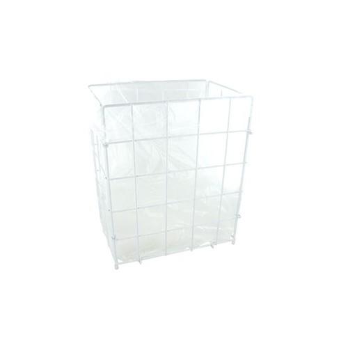 Sammelkorb 30 Liter / weiß / Drahtgeflecht / 300x360x180mm Produktbild