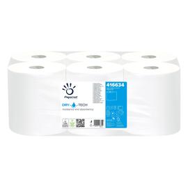 Handtuchrollen 1-lagig / weiß / 20cm / 135m / Ø15,2cm / TAD-Zellstoff Autocut / Papernet (PACK=6 ROLLEN) Produktbild