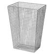 Abfallkorb Serie Lambda 30 Liter / Edelstahl poliert / 350x500x255mm / Air-Wolf Produktbild