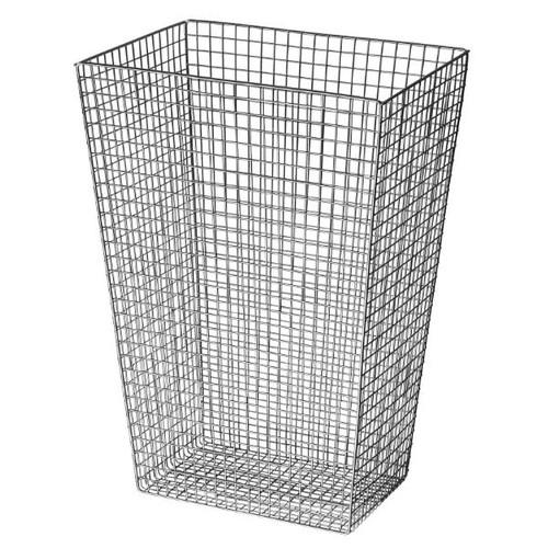 Abfallkorb Serie Lambda 30 Liter / Edelstahl poliert / 350x500x255mm / Air-Wolf Produktbild Front View L