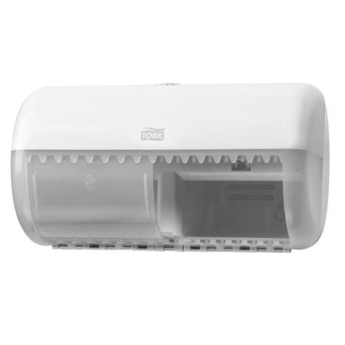 Toilettenpapierspender für Kleinrollen Kunststoff / weiß / 286x158x153mm / Tork 557000 Produktbild
