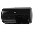 Toilettenpapierspender Kunststoff 286x158x153mm schwarz Tork 557008 Produktbild