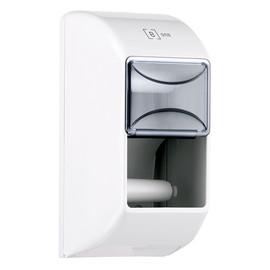 Toilettenpapierspender für 2 Normalrollen / weiß / Kunststoff / 145x145x300mm Produktbild