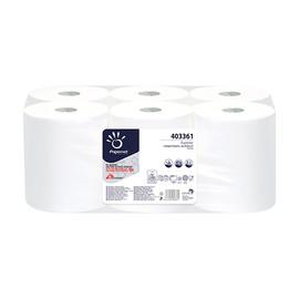 Handtuchrollen 140m 21cm Ø18,5cm 2-lagig weiß Kern 4cm (PACK=6 ROLLEN) Produktbild