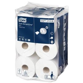 Toilettenpapier Smart One Mini T9 / 2-lagig / 620 Blatt / weiß / 13,4x18cm / Tork 472193 (KTN=12 ROLLEN) Produktbild