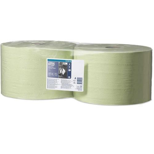 Putzrollen perforiert 23,5x34cm 510m Ø37cm 2-lagig grün Tork 129243 (PACK=2 ROLLEN) Produktbild Front View L