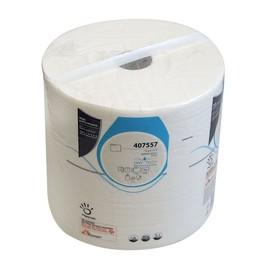 Putzrollen Superior Zellstoff / 2-lagig / weiß / 23,4x38cm / 152m / Ø25cm / 400 Abrisse / Papernet (PACK=3 ROLLEN) Produktbild