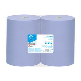Putzrollen 37,3x36cm 360m 1000 Blatt 2-lagig blau Recycling (PACK=2 ROLLEN) Produktbild