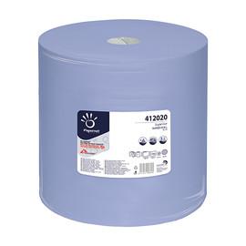 Putzrollen Superior Recycling 3-lagig / blau / 37,3x36cm / 360m / Ø35cm / 1000 Abrisse / Papernet Produktbild