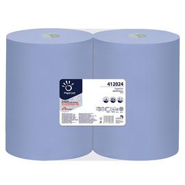 Putzrollen Superior Recycling 3-lagig / blau / 37,3x36cm /180m / Ø28cm / 500 Abrisse  / Papernet (PACK=2 ROLLEN) Produktbild