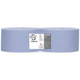 Putzrollen Standard Recycling 3-lagig / blau / 21,5x36cm / 360m / Ø 38cm / 1000 Abrisse  / Papernet (PACK=2 ROLLEN) Produktbild