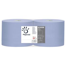 Putzrollen Standard Recycling 2-lagig / blau / 21,5x36cm / 360m / Ø 27,5cm / 1000 Abrisse / Papernet (PACK=2 ROLLEN) Produktbild