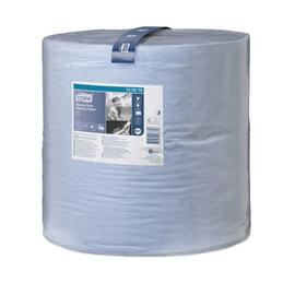 Wischtuch extra stark 2-lagig / blau / 36,9x34cm / 340m / Ø37,5cm / 1000 Abrisse / Tork  Premium 130070 Produktbild