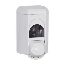 Seifenspender ClIVIA retro 110 mit Druckknopf 1000ml / weiß / Kunststoff / 220x115x130mm Produktbild