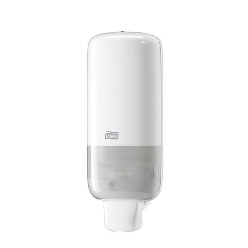 Schaumseifenspender S4 mit Druckknopf  1000ml / weiß / Kunststoff / 113x292x114mm / Tork 561500 Produktbild