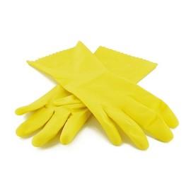 Latex Mehrweghandschuhe Smart SMA 59 gelb / Größe M / baumwollgefüttert (PACK=1 PAAR) Produktbild