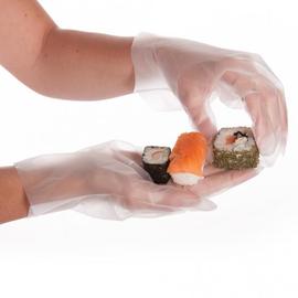 TPE Einweghandschuhe transparent / Größe S / Spenderbox (BOX=200 STÜCK) Produktbild