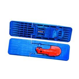 Mopphalter mit Magnetverschluss 40cm / blau / robust / Kunststoff / Mopptex Produktbild