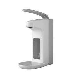 Desinfektionsmittel- & Seifenspender  mit Armhebel und Auffangschale  500ml / weiß / Kunststoff / Temdex Produktbild