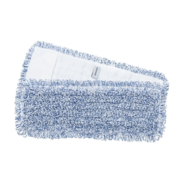 Flachpressenmopp SELECTION BLUE 50cm / weiß-blau / Mikrofaser  Produktbild