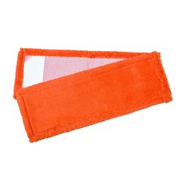 Wischmopp TROCKEN 50cm / orange / mit PES Taschen / Mikrofaser Produktbild