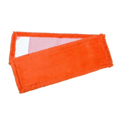 Wischmopp TROCKEN 50cm / orange / mit PES Taschen / Mikrofaser Produktbild Front View L