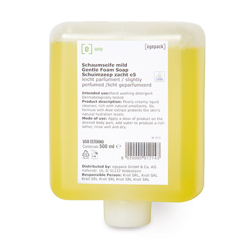 Schaumseife e5 mild leicht parfümiert 500ml / e one (KARTON = 12 FLASCHEN Á 500 MILLILITER) Produktbild Front View L