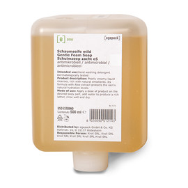 Schaumseife e5 mild antimikrobiell 500ml / e one (KARTON = 12 FLASCHEN Á 500 MILLILITER) Produktbild